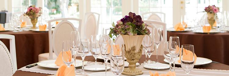 結婚式,テーブルセッティング