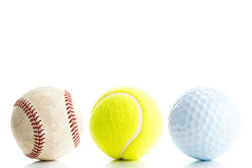 野球ボール,テニスボール,ゴルフボール
