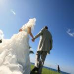 結婚式,後姿