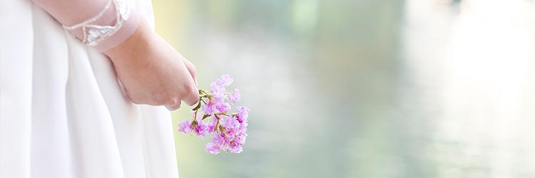 花嫁手元,お花