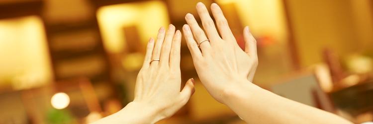 カップル,手,指輪