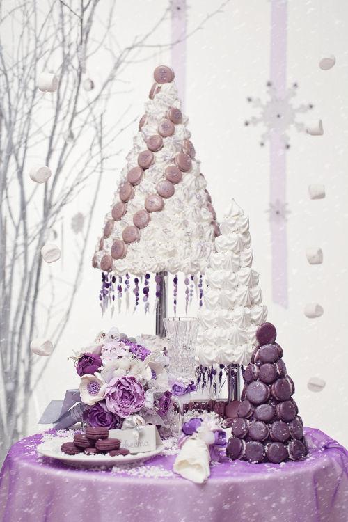 冬 2月 結婚式 ウエディングケーキ
