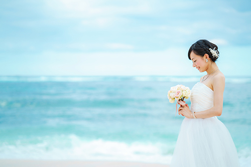 花嫁,ビーチ