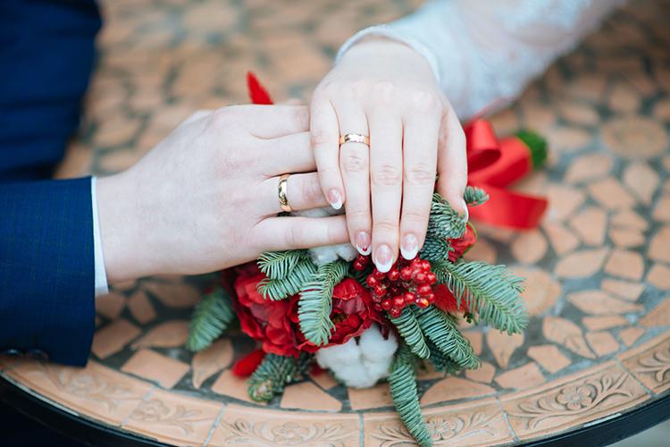 結婚指輪,新郎新婦