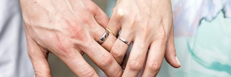 カップル,結婚指輪