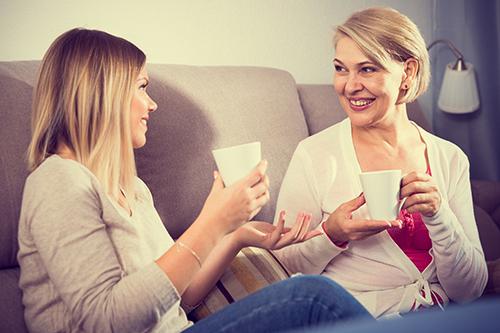 母娘,コーヒー,会話