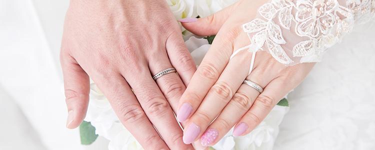結婚指輪,新郎新婦手元