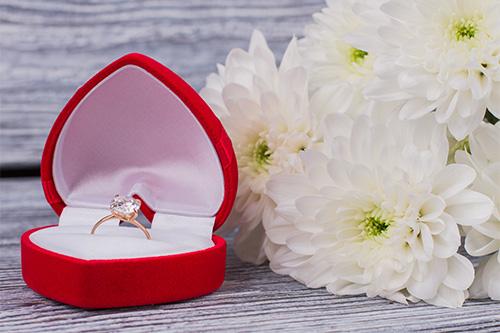花束、指輪