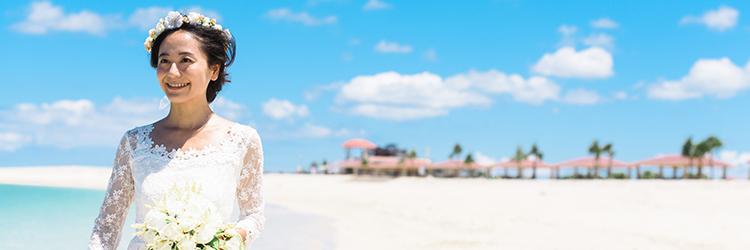 ビーチ,花嫁,新婦