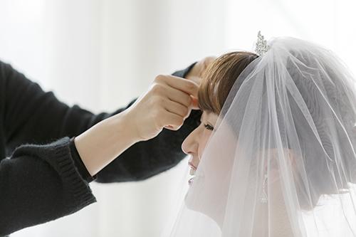 花嫁,メイクアップ
