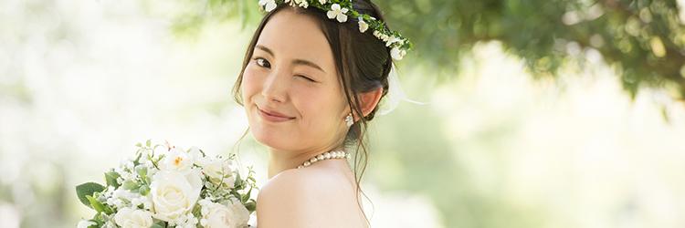結婚 花嫁 ウインク
