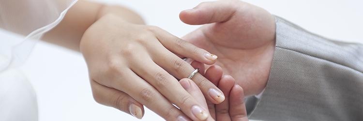 結婚指輪,カップル