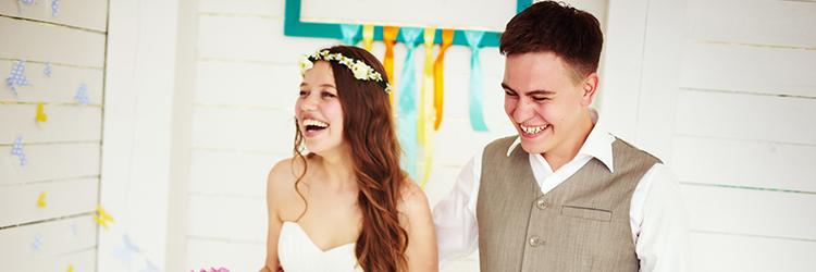 結婚式,笑顔
