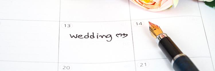 カレンダー,結婚式