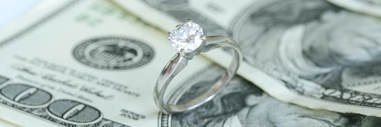 結婚式費用,指輪,米ドル札