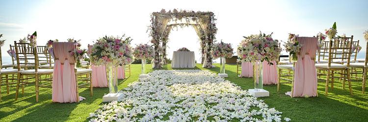 バージンロード 花