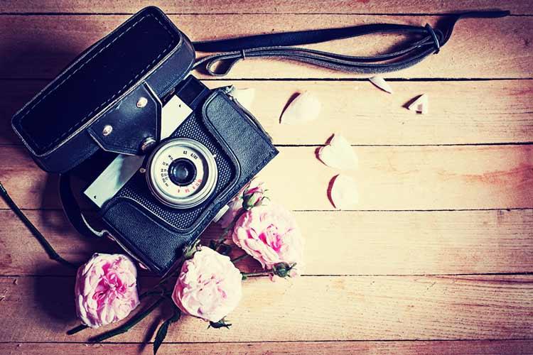 カメラ 花