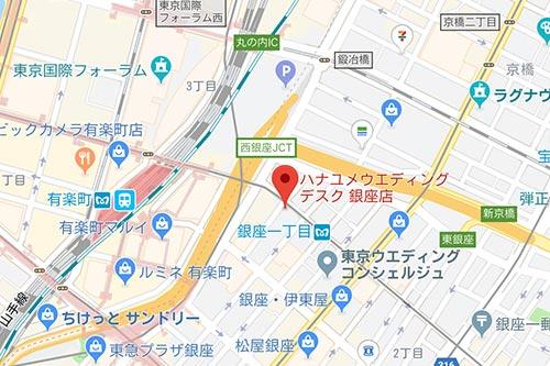 ハナユメ銀座店 地図